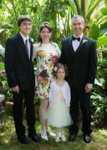 Family at wedding